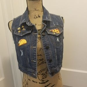***3 for $45***Custom Rue 21 Denim Vest